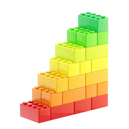 Energy efficiency steps made of bricks
