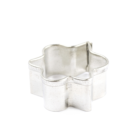 Metal cookie cutter isolated over the white background