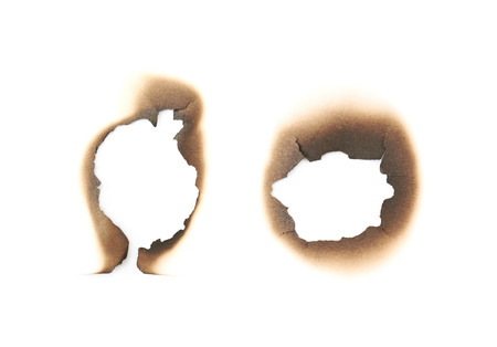 Photo for Paper burn mark stain isolated - Royalty Free Image