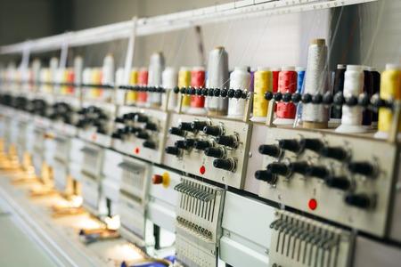 Photo pour Fabric industry machinery production line - image libre de droit