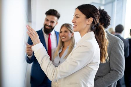 Photo pour Meeting business corporate success brainstorming teamwork office concept - image libre de droit