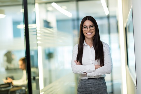 Photo for Portrait of successful beautiful businesswoman in office - Royalty Free Image