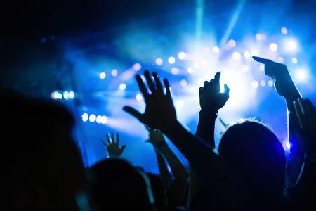 Photo pour Picture of party people at music festival - image libre de droit