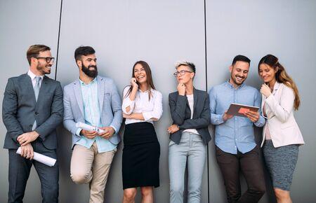 Photo pour Business people day at modern business office - image libre de droit