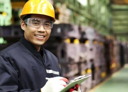 Portrait asian engineer smiling