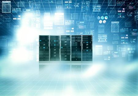 Photo pour Cloud server concept with blue sky and cloud concept - image libre de droit