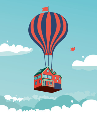 Foto per House above the clouds - Immagine Royalty Free