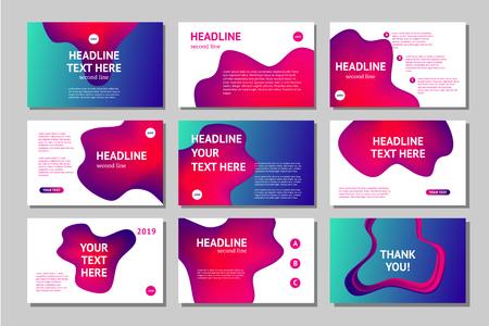Illustration pour Presentation pages collection. Abstract business cover set. Landing page templates. - image libre de droit