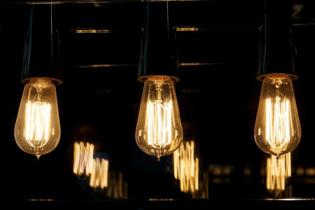 Photo for incandescent filament tungsten lamps - Royalty Free Image