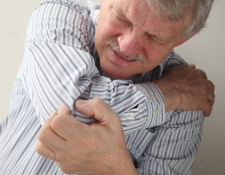 an older man suffering from sore joints