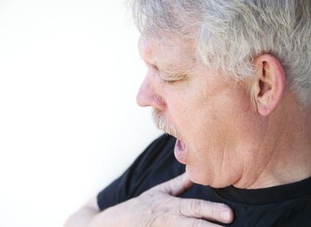Photo pour man has difficulty getting his breath - image libre de droit