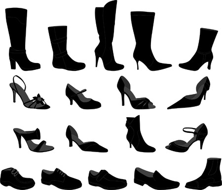shoes collection - vector