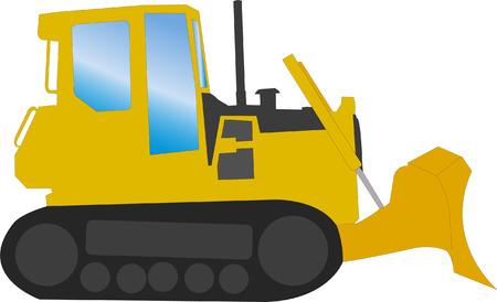 bulldozer - vector