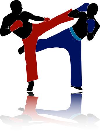 kick-boxers - vector