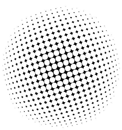 Illustration for halftone dots - vector - Royalty Free Image