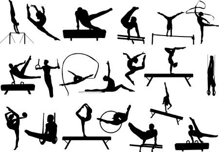 gymnastics collection vector