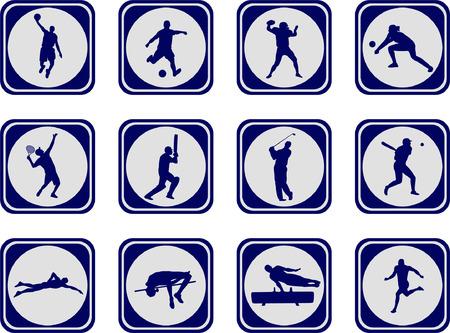 Foto de sport icons collection - vector - Imagen libre de derechos