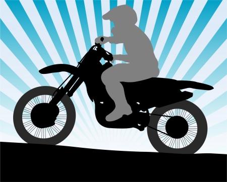 Illustration pour motorcyclist - image libre de droit