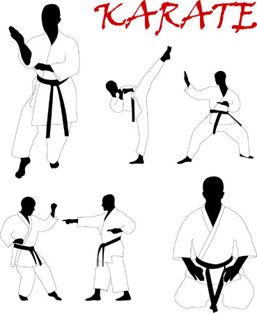 karate collection - vector