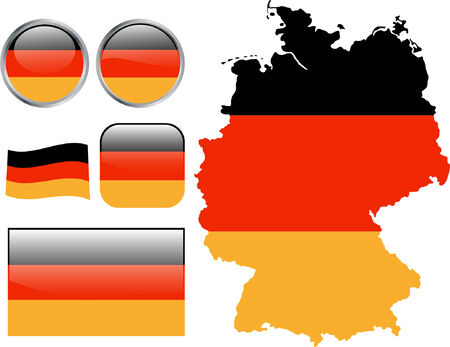 Germany flag buttons.