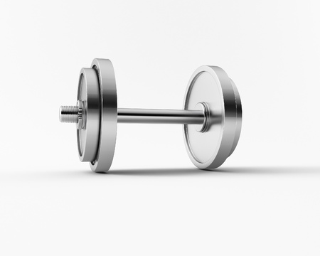 a 3d made group of bar bell