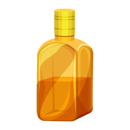 Vector illustration of a bottle of whiskey