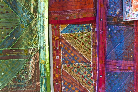Arab tissues in Granada Bazaar