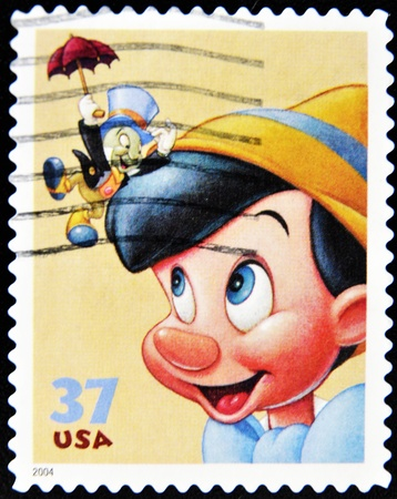 stamp with pinocchio