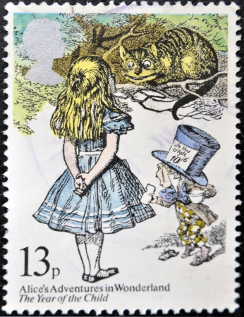 UNITED KINGDOM - CIRCA 1979: A stamp printed in Great Britain shows Alice