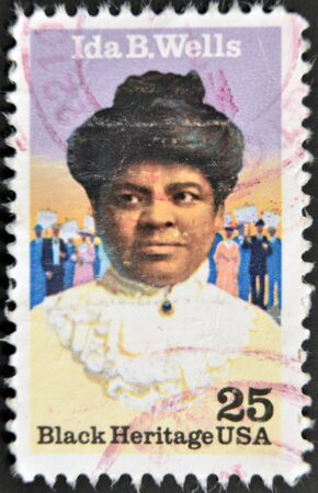UNITED STATES OF AMERICA - CIRCA 1990: A stamp printed in USA shows Ida B. Wells, black heritage serie, circa 1990