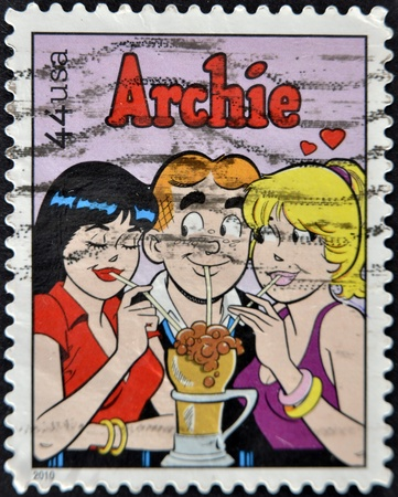 UNITED STATES OF AMERICA - CIRCA 2010: A stamp printed in USA shows Archie, cartoon characters, circa 2010