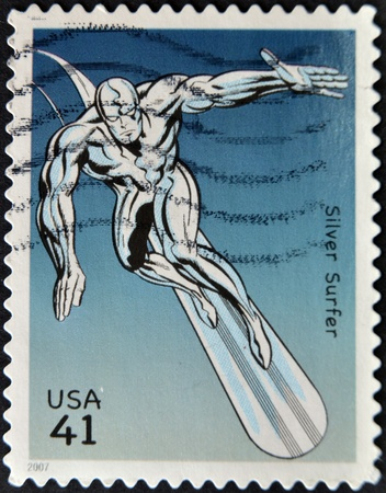 UNITED STATES - CIRCA 2007: stamp printed in USA shows Silver Surfer, circa 2007