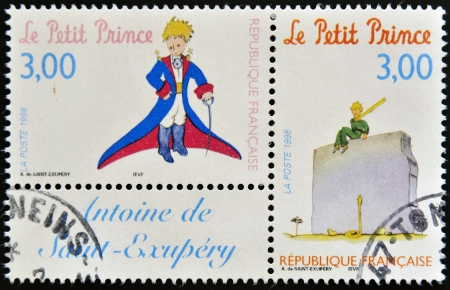 FRANCE - CIRCA 1998  A stamp printed in France shows the little prince, circa 1998