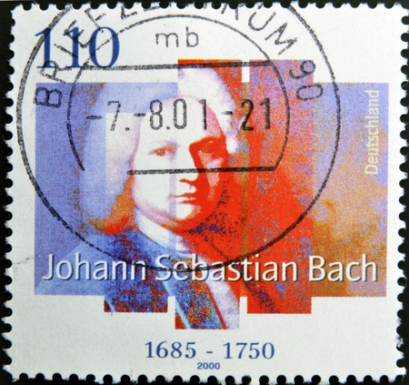 GERMANY - CIRCA 2000: A Stamp printed in the Germany shows portrait of the composer Johann Sebastian Bach, circa 2000.