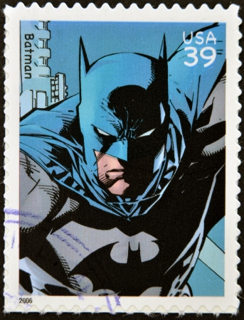 UNITED STATES OF AMERICA - CIRCA 2006: stamp printed in USA shows Batman, circa 2006