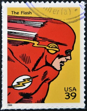 UNITED STATES OF AMERICA - CIRCA 2006: stamp printed in USA shows Flash, circa 2006