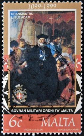 MALTA - CIRCA 1999  A stamp printed in Malta shows image of the anniversary of sovereign military order of Malta , circa 1999