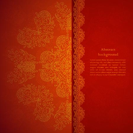 Illustration pour Red ornament background with sparks - image libre de droit