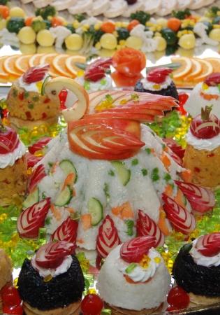 Catering swan cake food