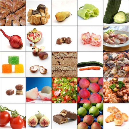 Collage of various food
