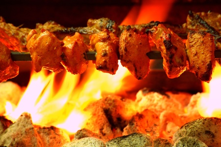 chicken tikka over bbq