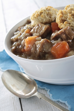 Irish stew plated meal