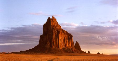 Shiprock, New Mexico, on the Navajo Reservation, west of the town of Shiprock.