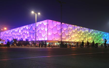 A View of the Cube, Olympic National Park, Beijing, China. Housed all the water sports events. Photo taken July 28, 2010.