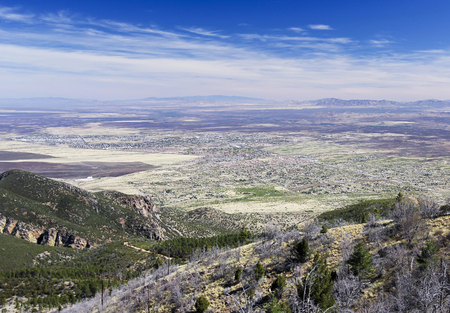 An Aerial View of Sierra Vista, Arizona, from Carr Canyon in the Huachuca Mountains