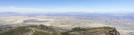 An Aerial Panorama of Sierra Vista, Arizona, from Carr Canyon in the Huachuca Mountains