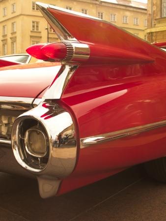 Antique Red Car Fin