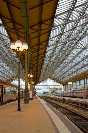 old modern style railway station in Tours, Pays-de-la-Loire,, France