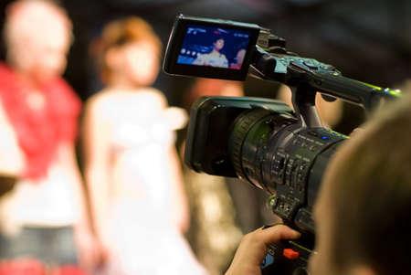 Cameraman with digital video camera