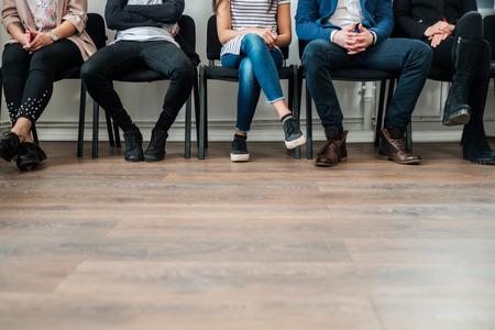 Photo pour Group of a people waiting for a casting or job interview - image libre de droit